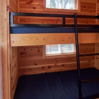 bunk beds inside cabin
